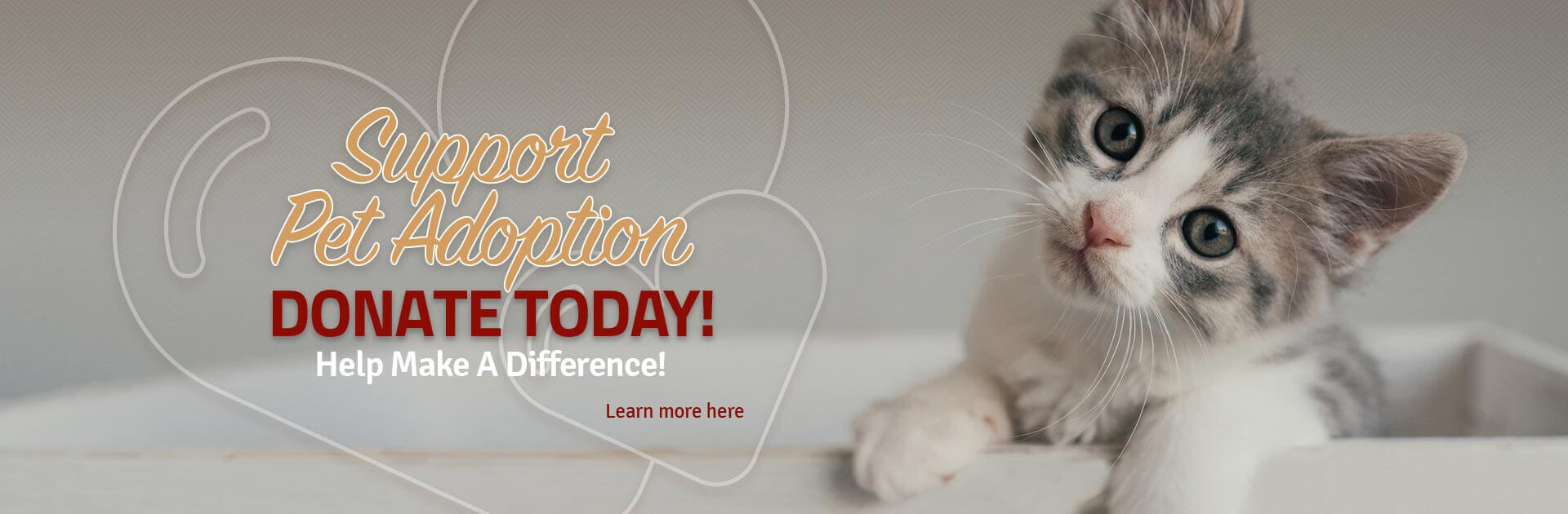 Support Pet Adoption Donate Today! Help Make A Difference!