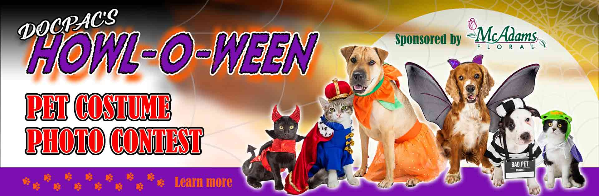 DOCPAC' Howl-O-Ween Pet Costume Photo Contest Sponsored By Mc Adams