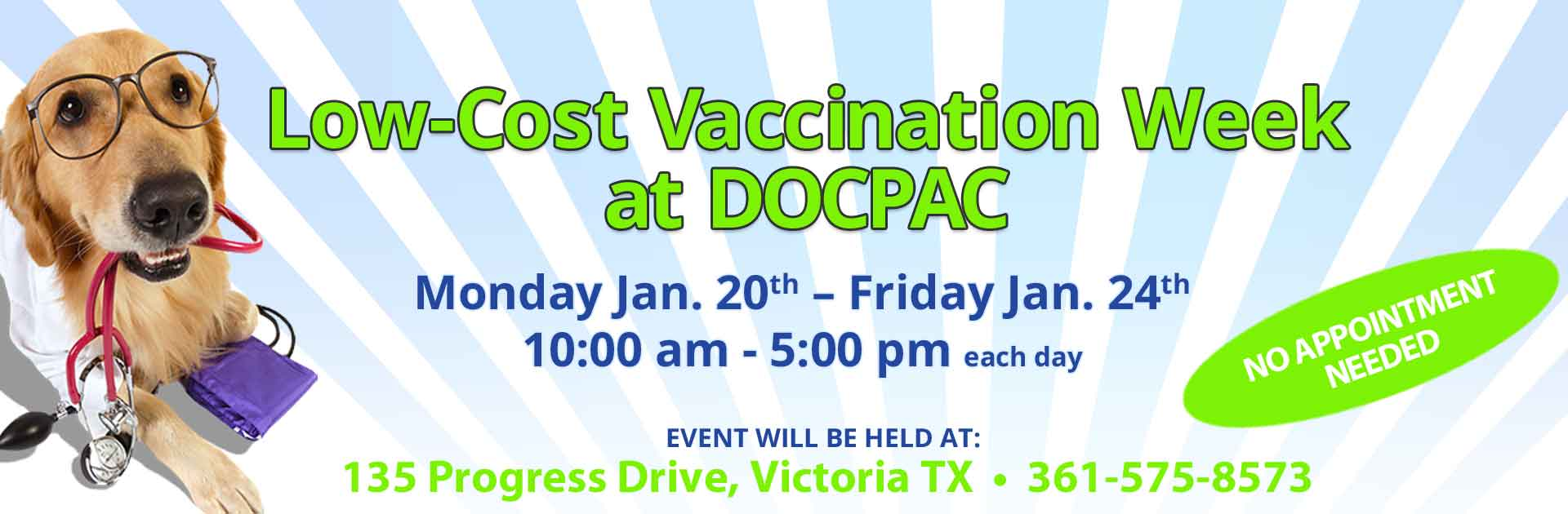 Low-Cost Vaccination Week at DOCPAC