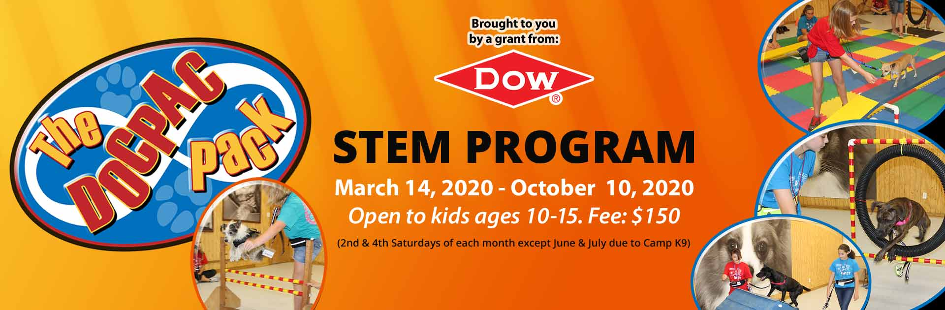 Stem Program  March 14, 2020-October 10, 2020 open to kids ages 10-15. Fee: $150