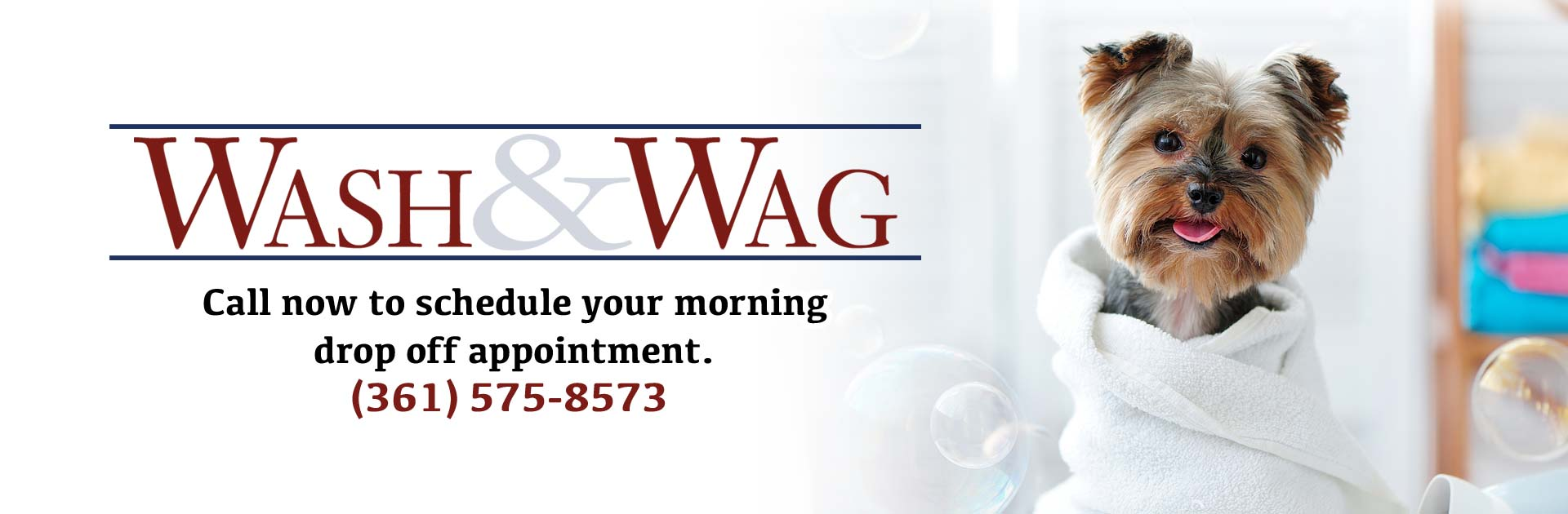 DOCPAC Wash & Wag event!  Call now to schedule your morning drop off appointment (361) 575-8573