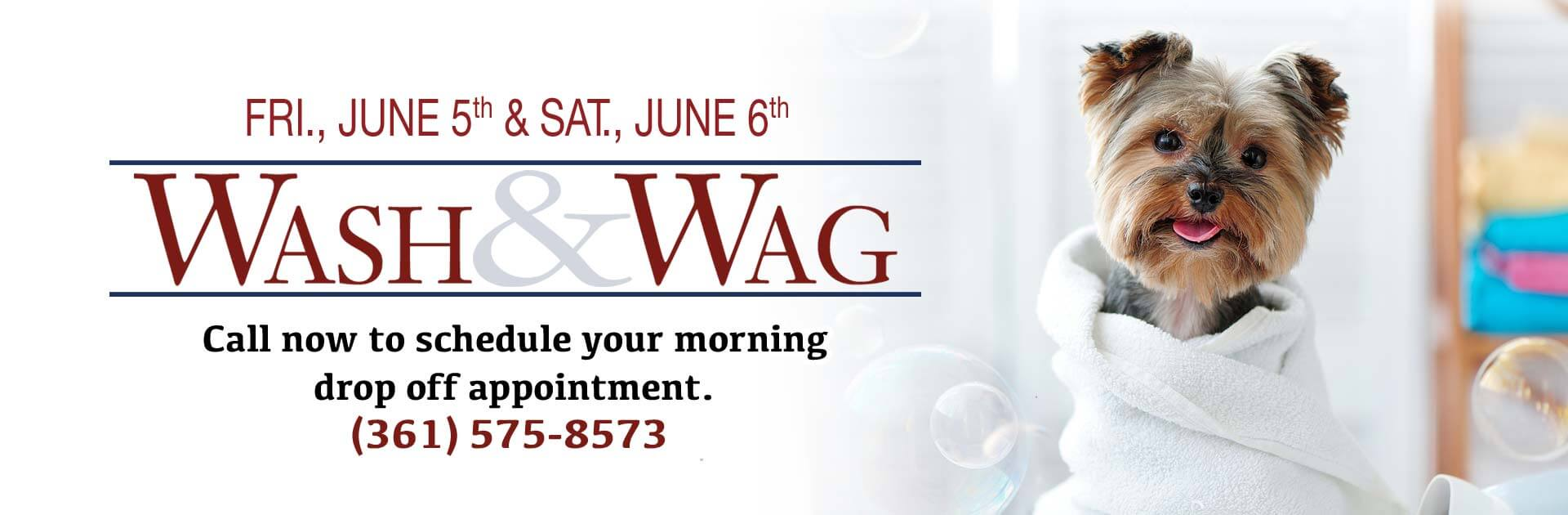 Wash & Wag Friday, June 5th and Saturday, June 6th
