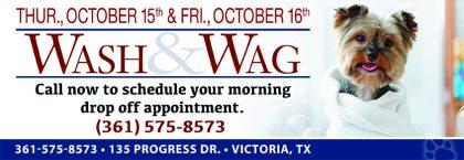 Wash & Wag (Oct. 15th & 16th)
