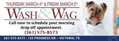 WASH & WAG (March 4th & 5th)